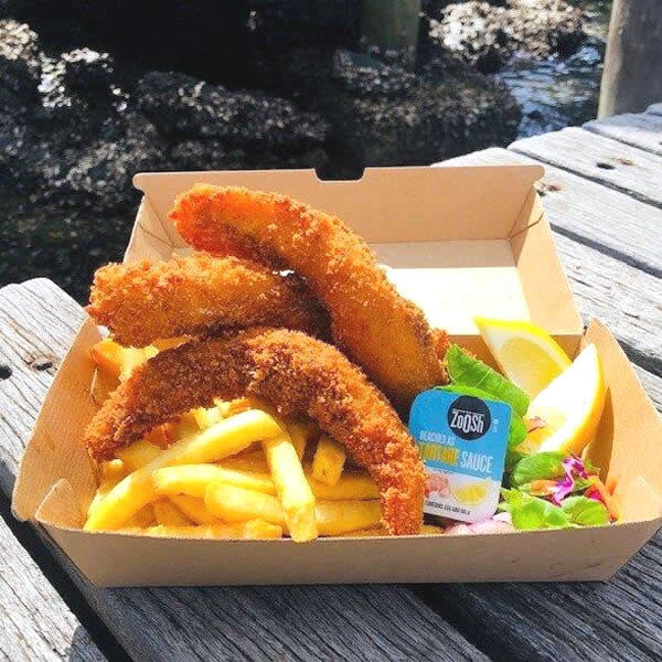 Crumbed Flathead Tails & Chips