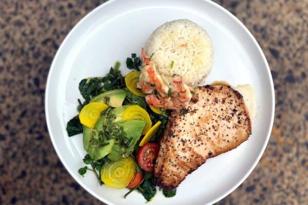 Pan Seared Marlin + Watercress Salad
